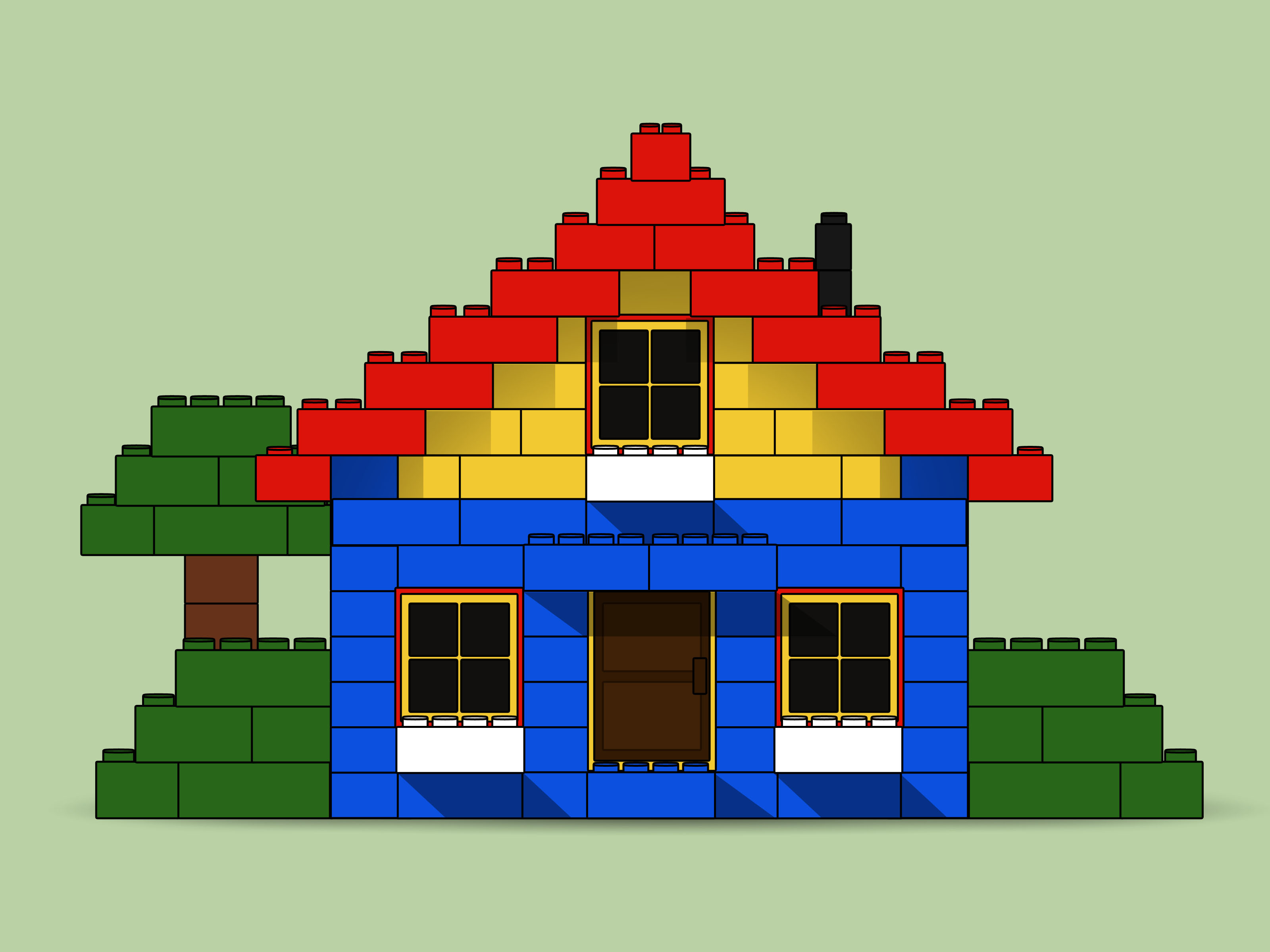 lego house with garage instructions