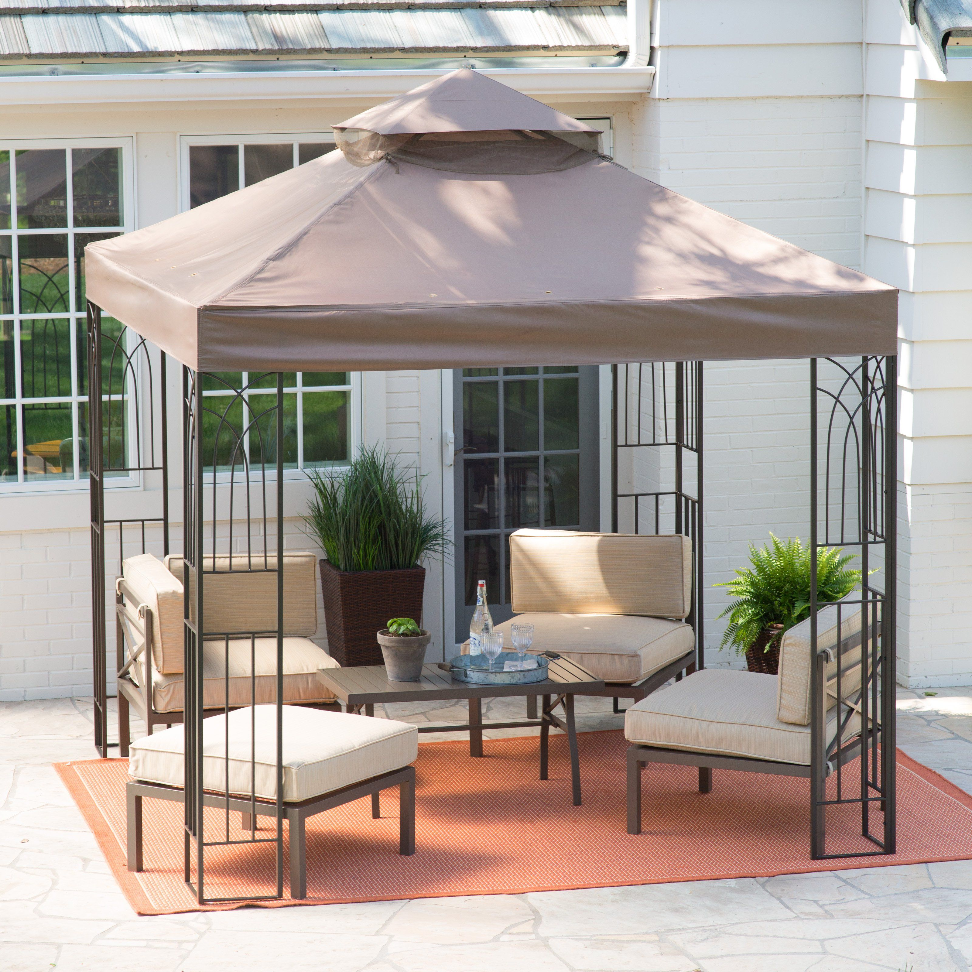 living accents 10 by 12 gazebo instructions