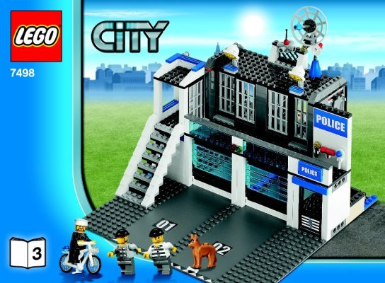 lego police station 7498 building instructions