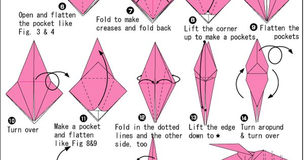 instructions for origami tent