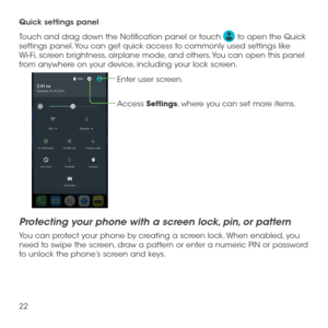 alcatel lume instructions for using